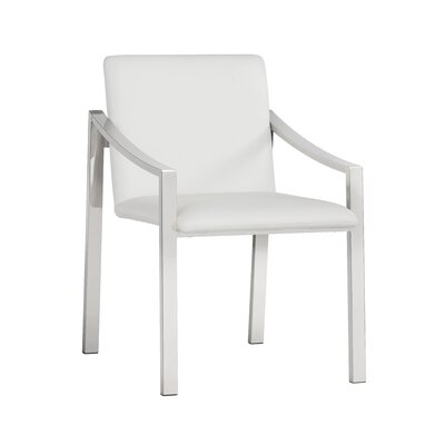 Ikon Rumi  Upholstered Dining Chair Upholstery: White