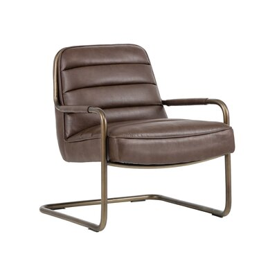 Irongate Lincoln Lounge Chair Upholstery: Cognac