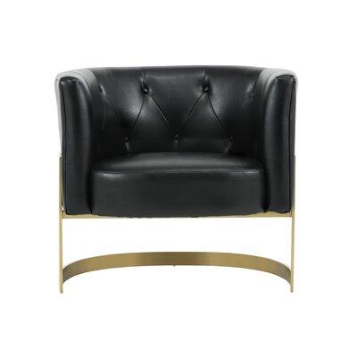 Club Karissa Barrel Chair Upholstery: Black