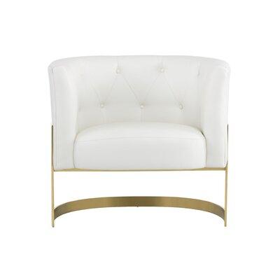 Club Karissa Barrel Chair Upholstery: White