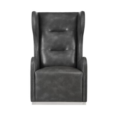 Club Franny Swivel Wingback Chair Upholstery: Gray