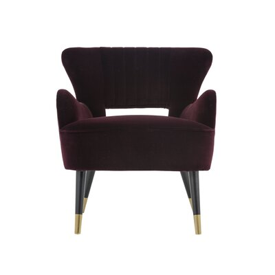 Club Hanna Armchair Upholstery: Cabernet
