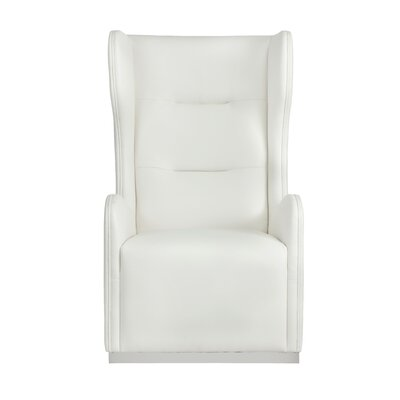 Club Franny Swivel Wingback Chair Upholstery: White