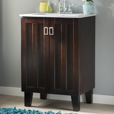 Larabee 24 Single Sink Bathroom Vanity Set Base Finish: Brown