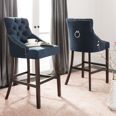 Ishaan 45 Bar Stool Color: Navy