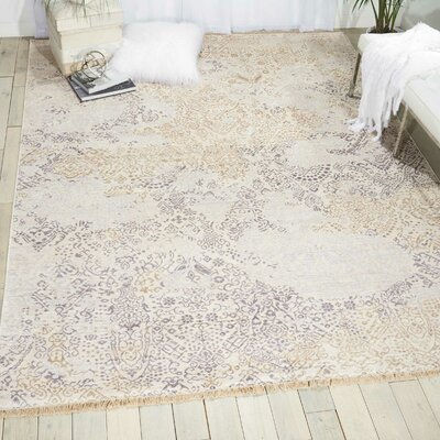 Rorry Hand-Knotted Opal Area Rug Rug Size: Rectangle 56 x 8