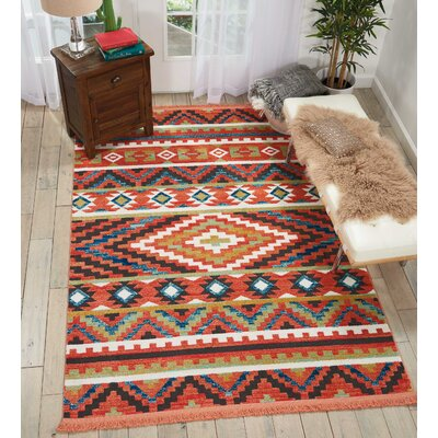 Carice Orange Area Rug Rug Size: Rectangle 67 x 97