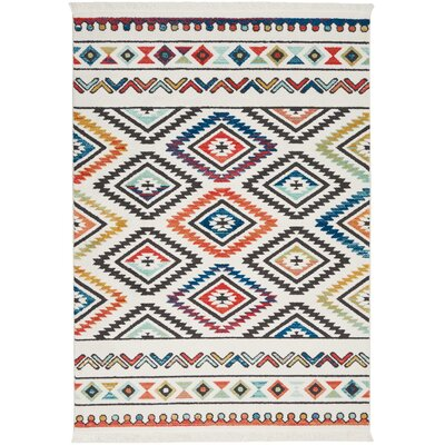 Carice Red/Blue Area Rug Rug Size: Rectangle 53 x 76