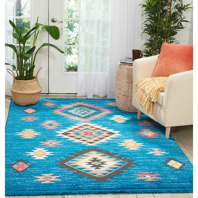 Pittsfield Blue Area Rug Rug Size: Rectangle 67 x 97