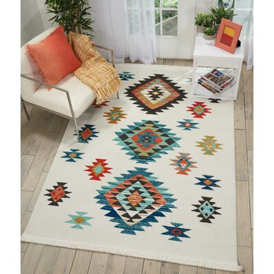 Pittsfield White/Blue Area Rug Rug Size: Rectangle 93 x 13