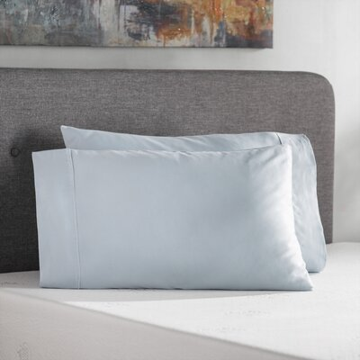 Holiman 400 Thread Count Egyptian Quality Cotton Solid Pillowcase Size: Standard, Color: Light Blue