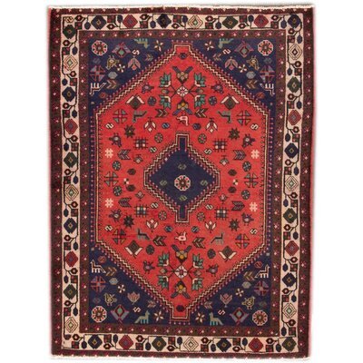 Vintage Hand-Knotted Wool Red Area Rug