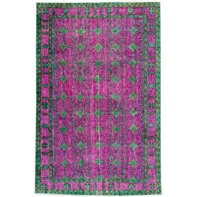 Revival Hand-knotted Wool Purple Area Rug