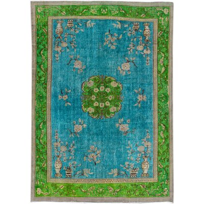 Revival Hand-Knotted Wool Blue/Green Area Rug