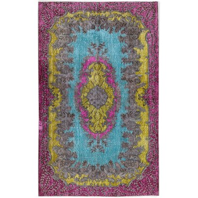 Revival Hand-Knotted Wool Blue/Purple Area Rug