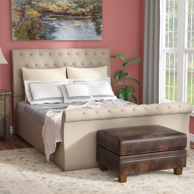 Derrall Modern Upholstered Panel Bed Size: King