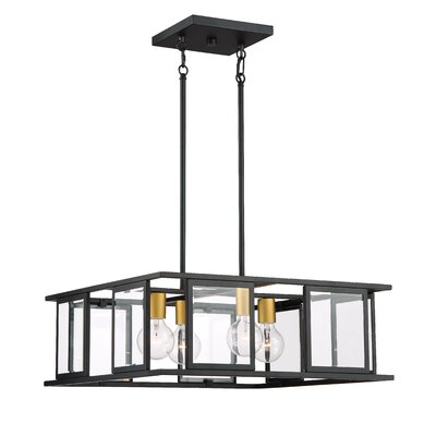 Wegener 4-Light Square/Rectangle Pendant GOLV3279 44553663