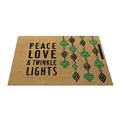 Peace, Love & Twinkle Lights Lighted Doormat