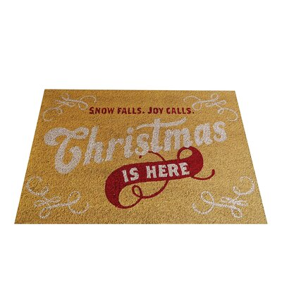 Christmas is Here Doormat