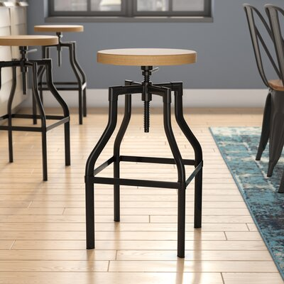 Donington 27 Swivel Bar Stool Base Finish: Black