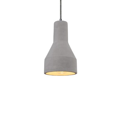 Charee 1-Light Mini Pendant Finish: Black and White