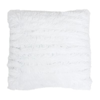 Selene Faux Fur Throw Pillow Color: White