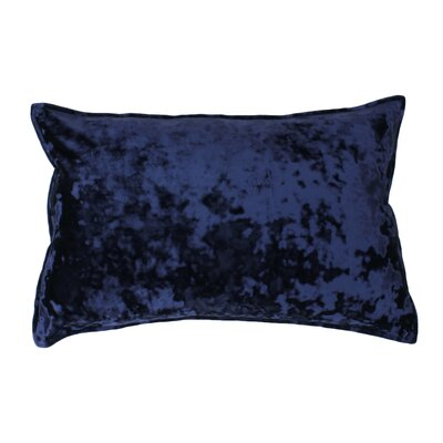 Selig Velvet Lumbar Pillow Color: Parisian Night