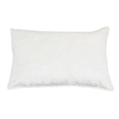 Selig Velvet Lumbar Pillow Color: Cream