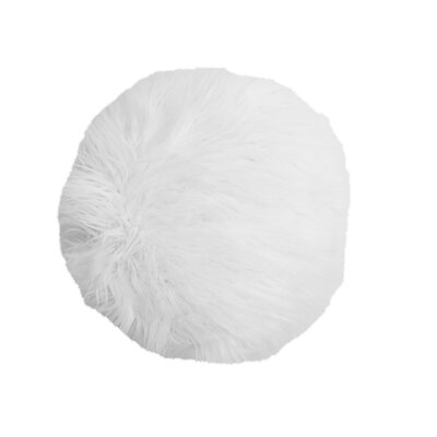 Seleucia Mongolian Throw Pillow Color: White