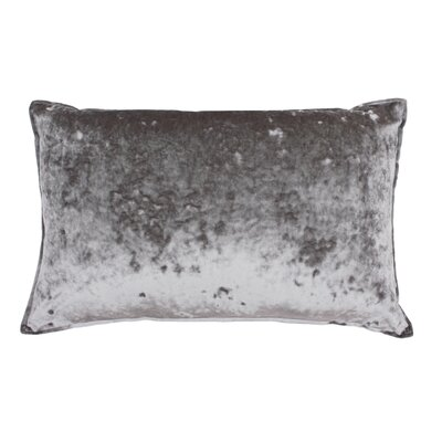 Selig Velvet Lumbar Pillow Color: Gray Flannel