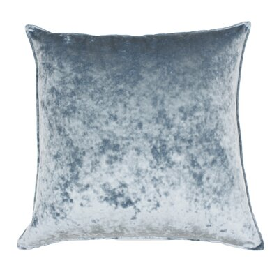 Cia Velvet Throw Pillow Color: Blue