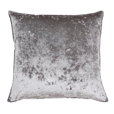 Cia Velvet Throw Pillow Color: Gray Flannel