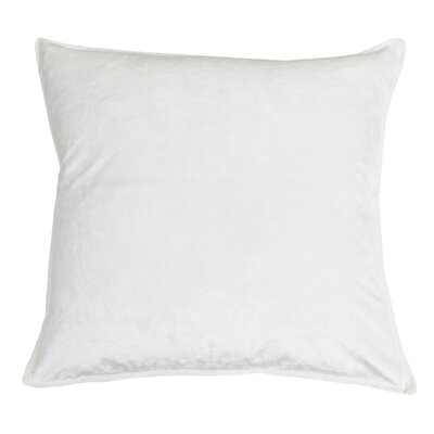 Cia Velvet Throw Pillow Color: Cream
