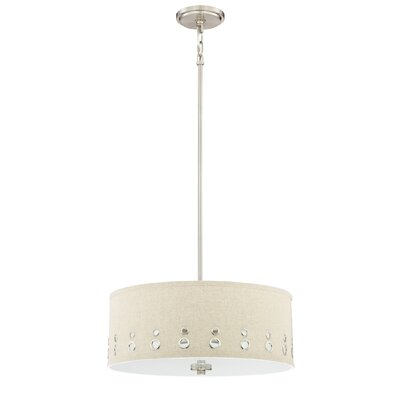 Teegarden 4-Light Drum Pendant Finish: Brushed Nickel