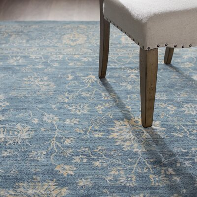 Melia Blue/Beige Area Rug Rug Size: Rectangle 6 X 9