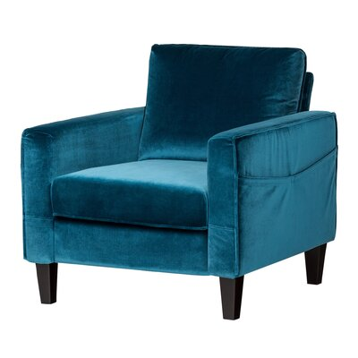 Live-It Cozy Armchair Upholstery: Velvet Blue