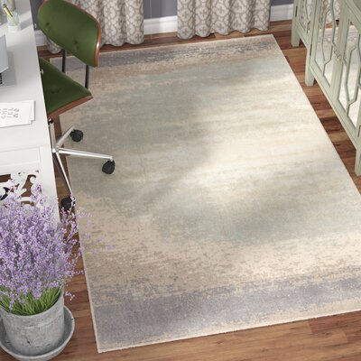 Riddle Pussywillow Gray/Pearled Ivory Area Rug Rug Size: Rectangle 410 x 710
