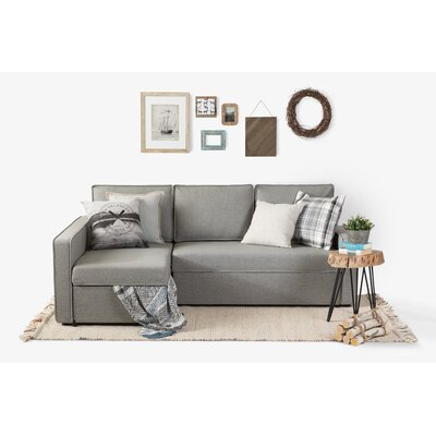 Live-It Cozy Reversible Sectional with Ottoman Upholstery: Gray Fog