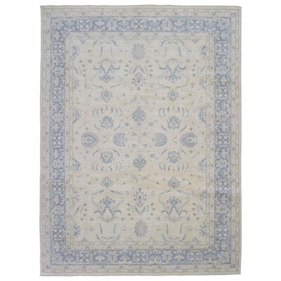 One-of-a-Kind Gracinha Pakistan Peshawar Hand-Knotted Wool Beige Area Rug