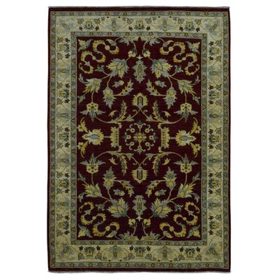 One-of-a-Kind Gracinha Pakistan Peshawar Hand-Knotted Wool Red/Green Area Rug