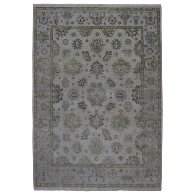 One-of-a-Kind Guidinha Hand-Knotted Wool Beige Area Rug