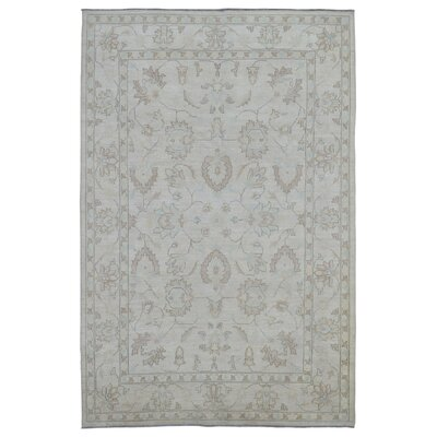 One-of-a-Kind Magdalena Pakistan Peshawar Hand-Knotted Wool Cream Area Rug