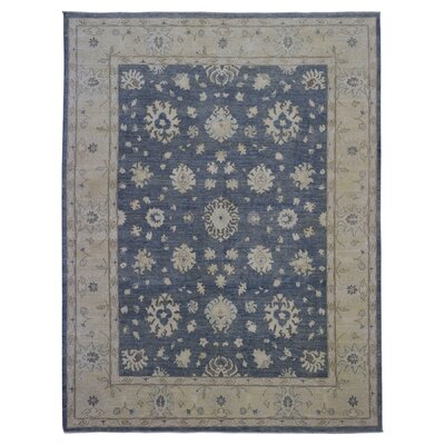 One-of-a-Kind Magdalena Pakistan Peshawar Hand-Knotted Wool Blue/Beige Area Rug