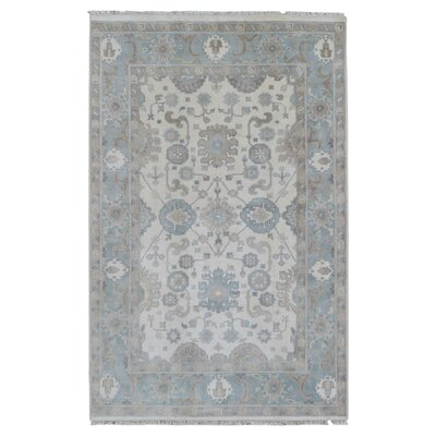One-of-a-Kind Guidinha Hand-Knotted Wool Blue/Beige Area Rug
