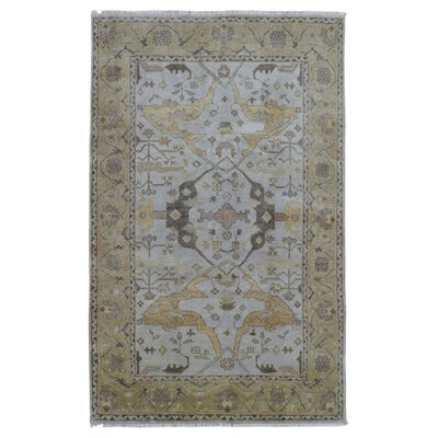 One-of-a-Kind Guidinha Hand-Knotted Wool Gray/Green Area Rug