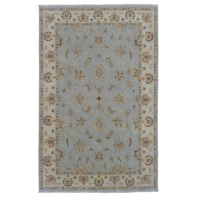 One-of-a-Kind Guilherme Hand-Knotted Wool Blue/Beige Area Rug