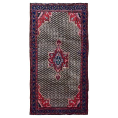 One-of-a-Kind Bethalto Persian Hamadan Hand-Knotted Wool Beige/Pink Area Rug