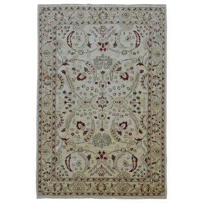 One-of-a-Kind Bessey Pakistan Peshawar Hand-Knotted Wool Beige Area Rug