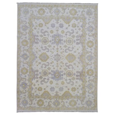 One-of-a-Kind Guidinha Hand-Knotted Wool Cream/Yellow Area Rug
