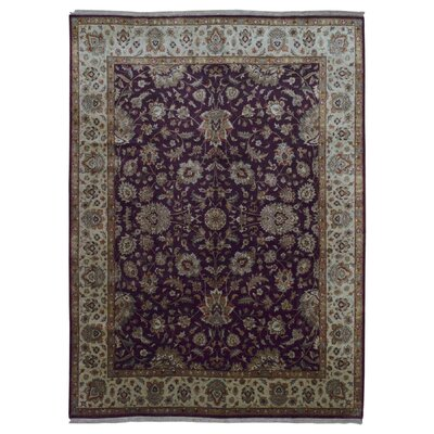 One-of-a-Kind Durand Large Tabriz Hand-Knotted Wool Red/Beige Area Rug
